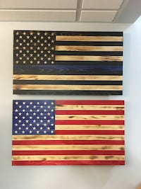 "Rustic American Flags measures         14 7/8""x 26"" Parkville, 21234"