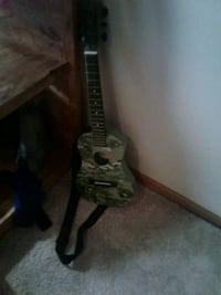 green and white camouflage classical guitar Sherrard, 61281