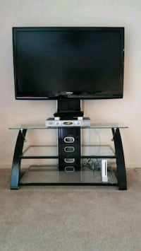 Black and glass TV stand (only) 27 mi