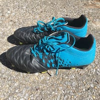 Rugby football / soccer cleats size 11 - black blue KIPSTA