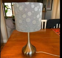 Cute silver lamp- like new!