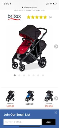 baby's black and red stroller screenshot Baltimore, 21220
