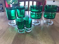 Vintage Arcoroc Made in France green glass Stemware Calgary, T2W 2H5