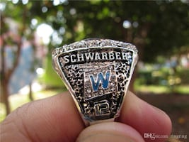 SCHWARBER-CUBS WORLD SERIES RING