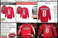 Ovechkin autographed jersey