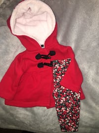 toddler's red and black hoodie Freedom, 95019