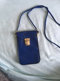 blue and black leather crossbody bag Antioch, 94509