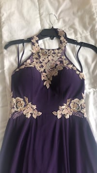 Purple embroidered prom/wedding dress