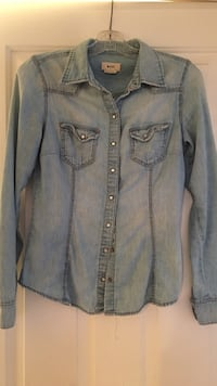 Fitted denim long sleeve H&M Port Moody