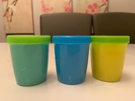 Yellow,teal,and blue slime 3 oz