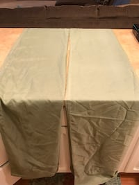 Curtains- olive green and brown Chatham, 62629