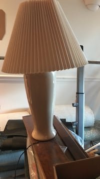 Pair of beige lamps. Only one lamp shade. Manassas Park, 20111