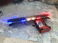 Code 3 Red,White, and Blue Strobe Light / Light Bar in good working condition. Must sell Hawthorne, 90250