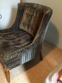 brown and black fabric sofa chair Coquitlam, V3K 3A5