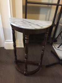 Move out Sale! Antique accent table with Marble Top! BRAMPTON