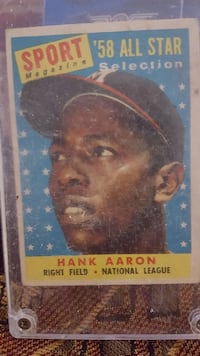 Sport '58 all star selection Hank Aaron collectibl