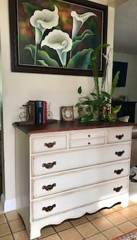 aab6a7d73d9b78 Used Solid wood dresser buffet entry table chest of drawers - hand ...