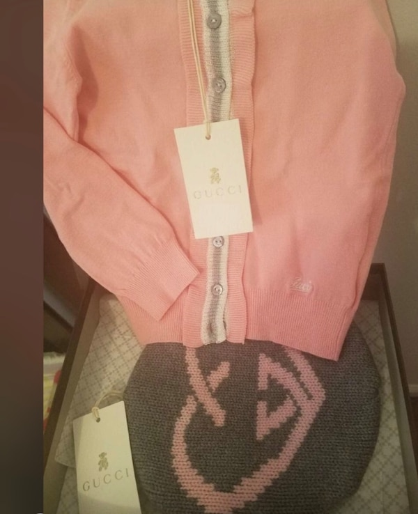Used Baby girl gucci cardigan and hat for sale - letgo 76fb81b91fa