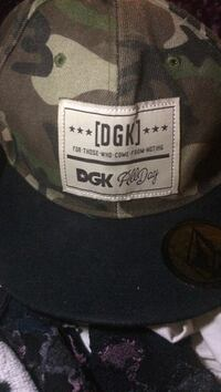 brown, green and beige DGK camouflage cap Nanaimo, V9S