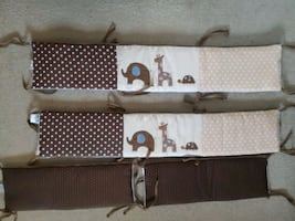 Baby crib bed bumper pads,