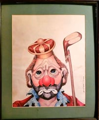 "Red Skelton 1972 "" Golf King"". SIGNED TWICE by...  Bristol, 37620"