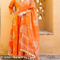 women's orange and white floral dress Mumbai, 400078