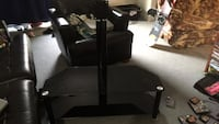 Black, glass two level tv stand and table  Burlington, L7L 1C2