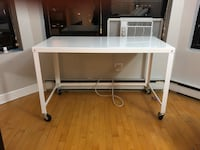 White industrial desk with wheels  Chicago, 60613