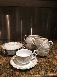 Gorgeous Teacups and Saucers Set of 7 Mississauga, L4Z 4A1