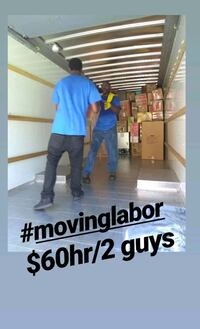 Moving labor $60hr/2 guys  Minneapolis