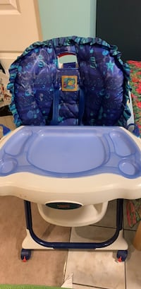 Baby's blue and white highchair Burnaby, V5C 2N8