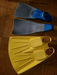 three pairs of blue and black flippers Gaithersburg, 20878
