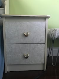 gray wooden 2-drawer chest Kitchener, N2N 3A7