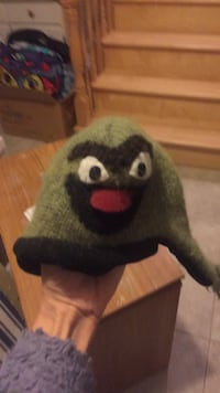 Sesame Street Oscar the grouch baby hat. This was from a specialty store and possibly hand made. Used maybe twice. Only $12! Laval, H7Y 2C1
