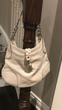While leather Michael kors hobo