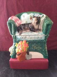 Rare Seymour Mann Cat in Green Chair Cookie Jar Henderson, 89015