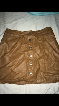 brown leather mini skirt Washington, 20011