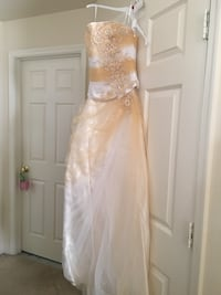 white and mimosa beaded prom-wedding dress Herndon, 20170