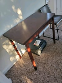 Desk convertible table with hidden storage