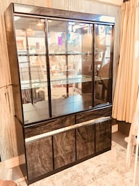 brown wooden framed glass display cabinet Clarksville, 37043
