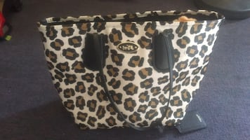 large coach bag with matching wallet