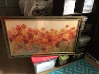 Brown wooden framed painting of flowers Visalia, 93292