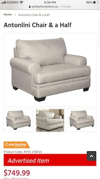 Sofa and chair and Half from Ashley Furniture Store Toronto, M2N