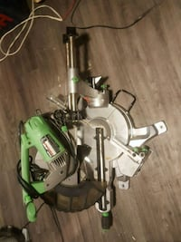 green and gray miter saw Vancouver, V6A 1K7