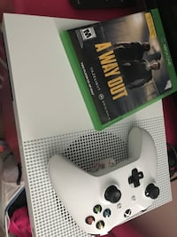 white Xbox One console with controller and game cases Columbia, 29207