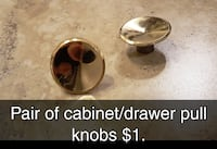 Pair of cabinet / drawer pull knobs Broken Arrow