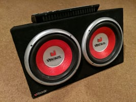 "Dual 10"" Visonik Subwoofers and Sony 1200W Amp"