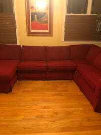 Red sectional couch  60 km