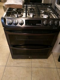Brand New LG Black Stainless steel double oven Gas