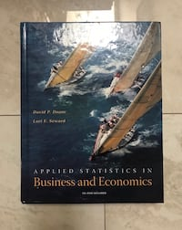 Applied Statistics in Business and Economics Textbook  Mississauga, L5R 1T6